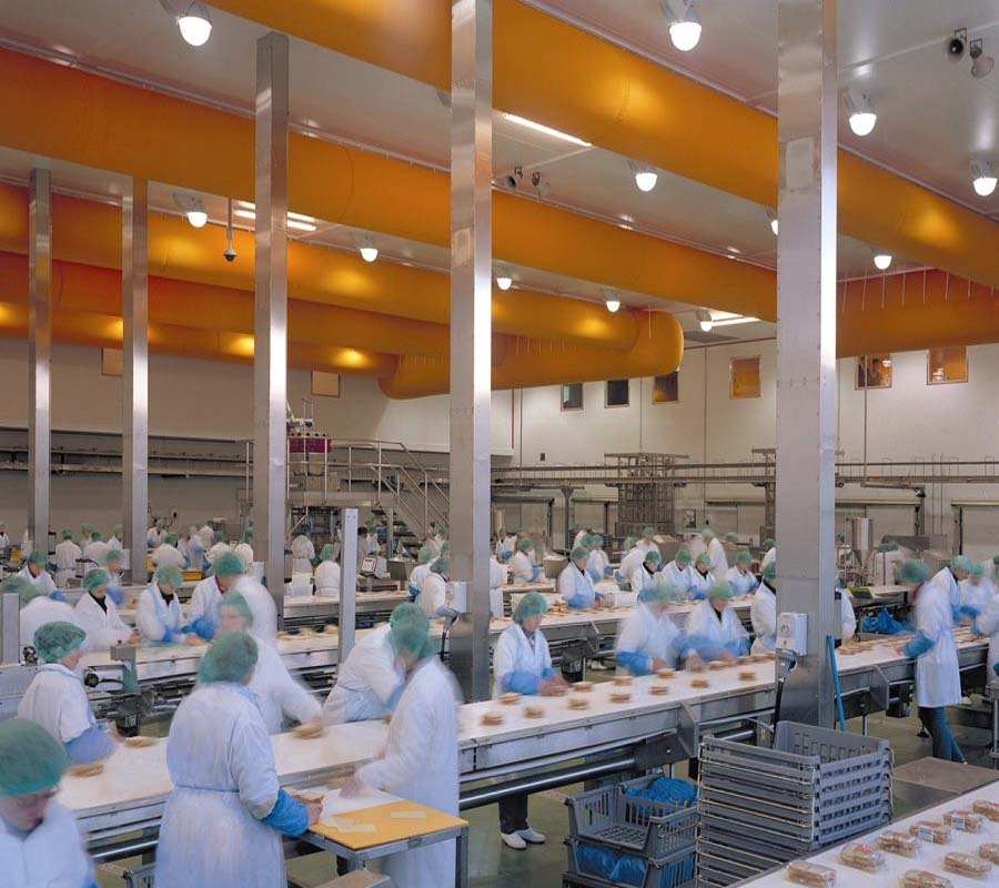 sound system installation to food production facility